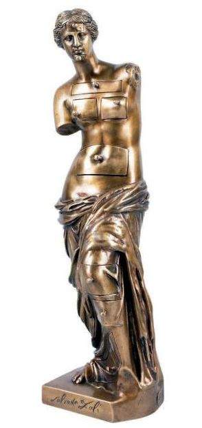By Salvador Dali (1904-1989), 1964, Vénus de Milo aux tiroirs (Venus de Milo with Drawers), bronze patina, founder Valsuani.