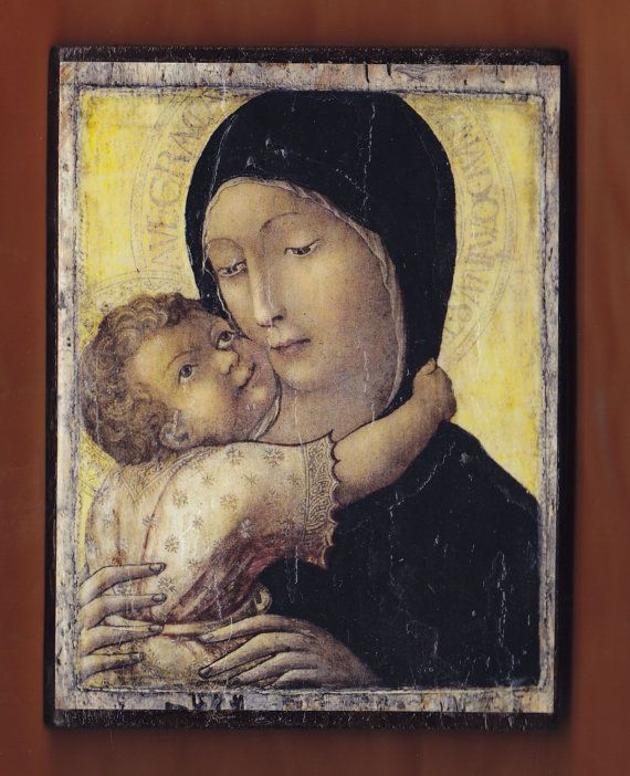 Virgin MaryLa Madonna con BambinoLiberale da by teogonia on Etsy