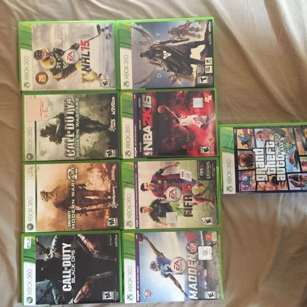 For Sale: Xbox 360 Games for $250