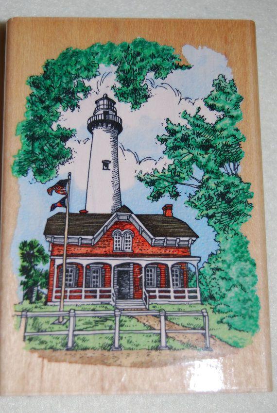 Stampendous LIGHTHOUSE Rubber Stamp NEW Retired Simons Light, GA