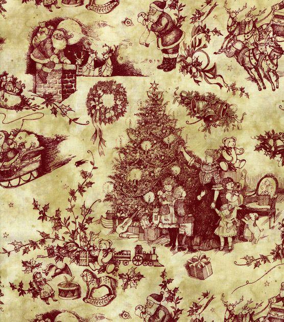holiday santa fabric