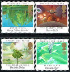 Paintings Stamps - Great Britain #1103-1106 Stamps - Europa 1985 Stamps - EU GB 1103 to 1106-1