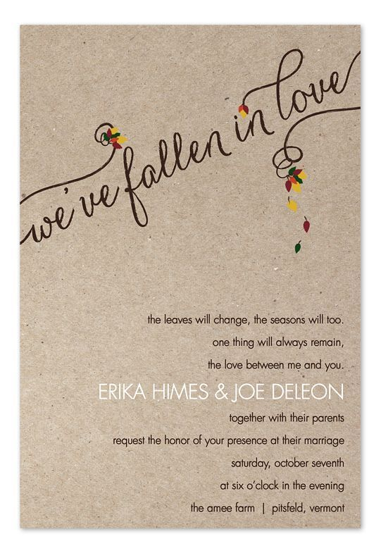 Love And Leaves Wedding Invitations By Invitation