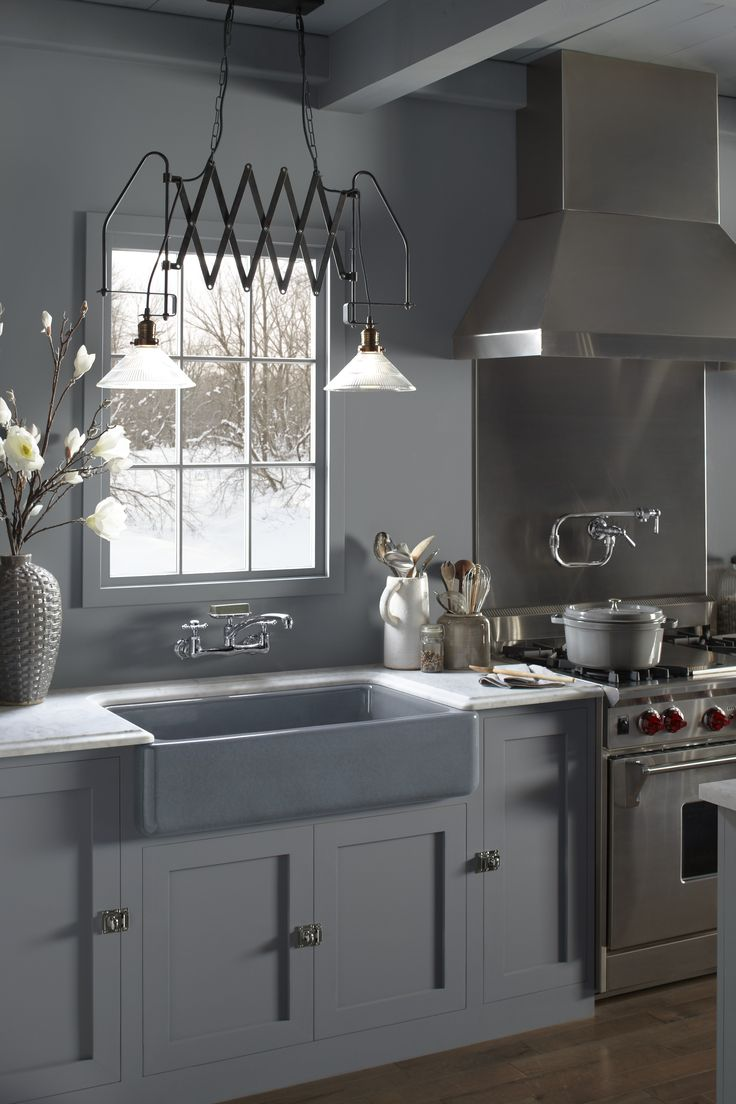 Drooling Over This Gorgeous Gray Cast Iron Farm Sink From Kohler Via  @PagingSupermom