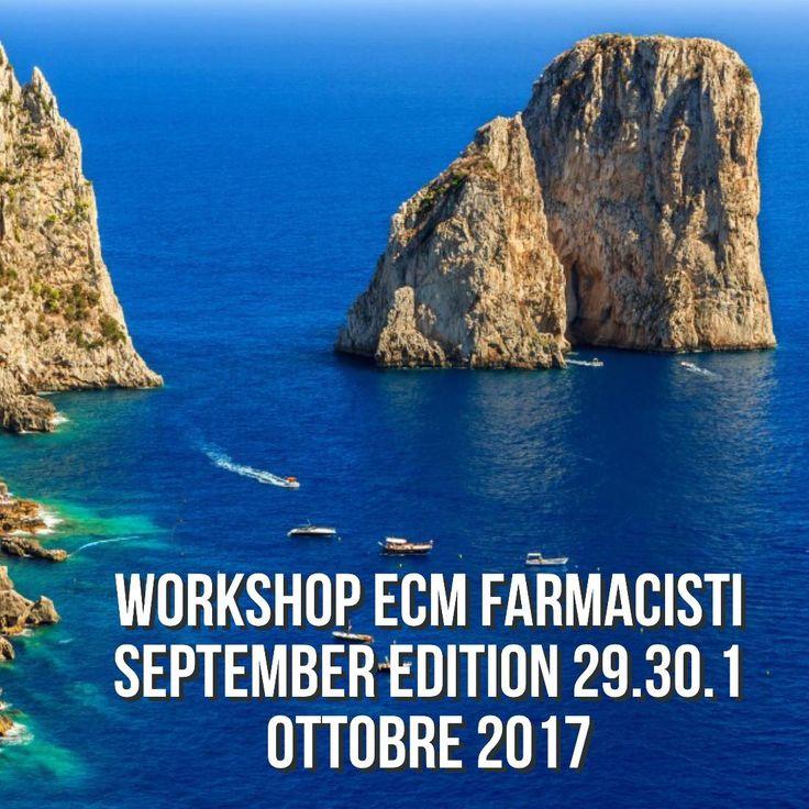 A grande richiesta ....Workshop #ecm #farmacisti September Edition 29.30 SETTEMBRE - 1 Ottobre 2017 at #GrandHotelQuisisana.Percorso da30creditiecm Modulo prenotazione : https://goo.gl/js8H6F Programma evento : https://goo.gl/17S85W Segreteria :#08119301428 - #3497291638