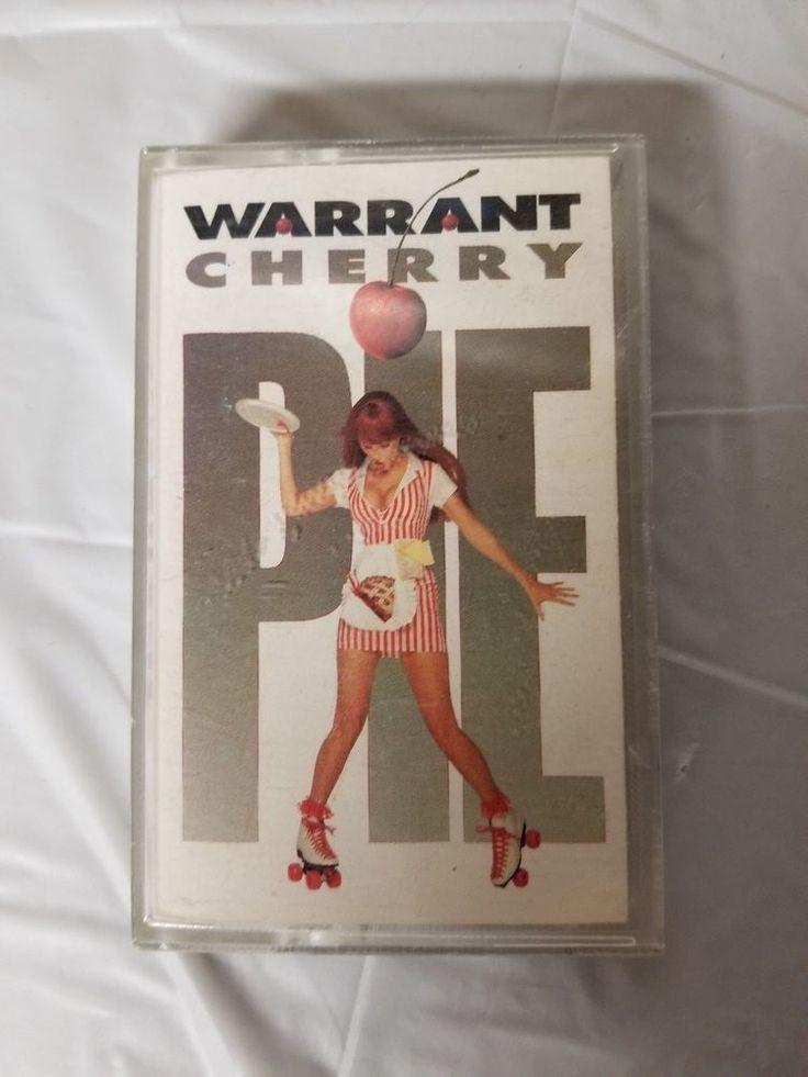 WARRANT CHERRY PIE CASSETTE USA Audio Tape Vintage 1990s #HardRock