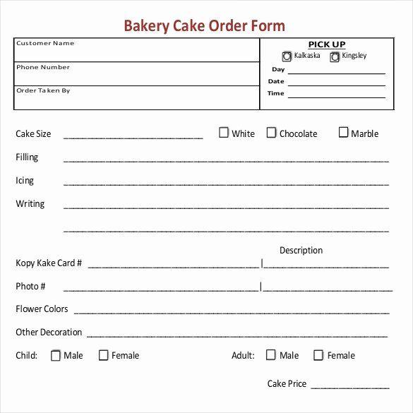 Cake Order Form Template New 16 Bakery Order Templates Google Docs Pages Cake Order Form Cake Order Form Template Business Plan Template