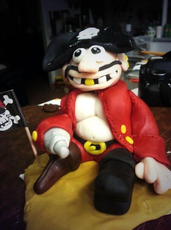 Pirate for son's birthday cake (2013)