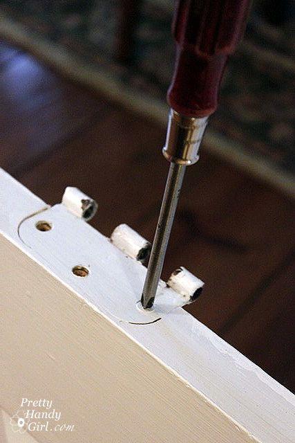 how to fix door hinges stripped