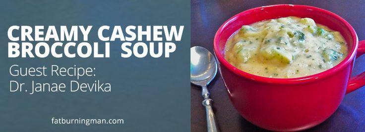 Creamy Cashew Broccoli Soup