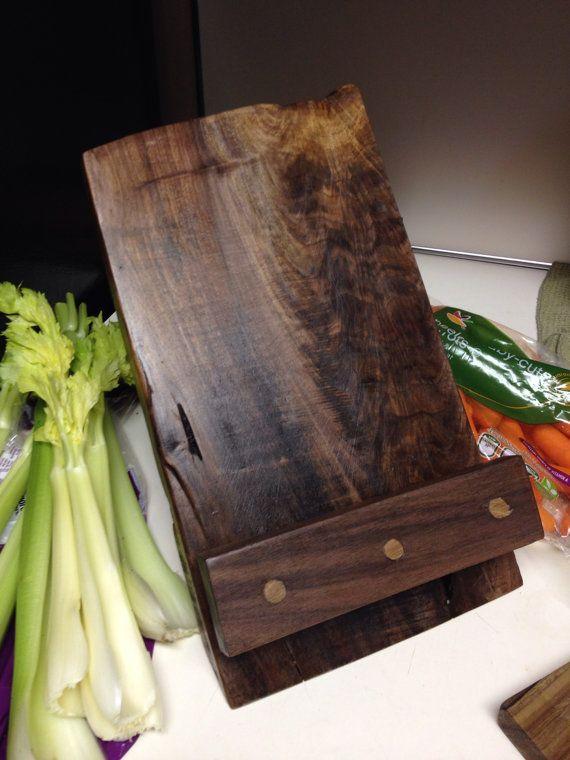 Soporte de libro de cocina madera iPad Stand o estructura