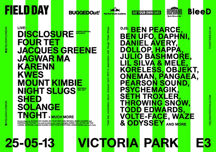 Field Day London 2013 - May 25th