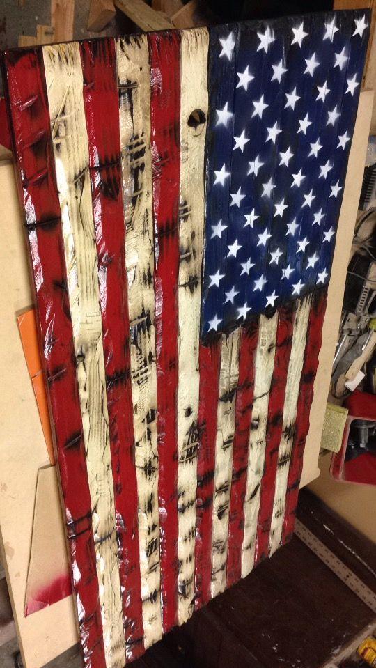 American Wood Flag progress shot 10 best