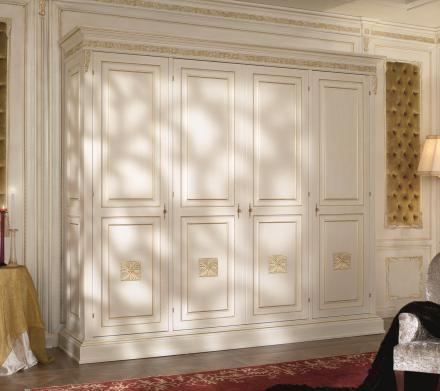 Carved white wardrobe
