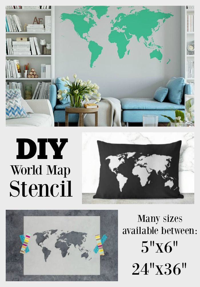 This World Map Stencil Makes Crafting Easy Works Perfectly For Walls Or Fabric I