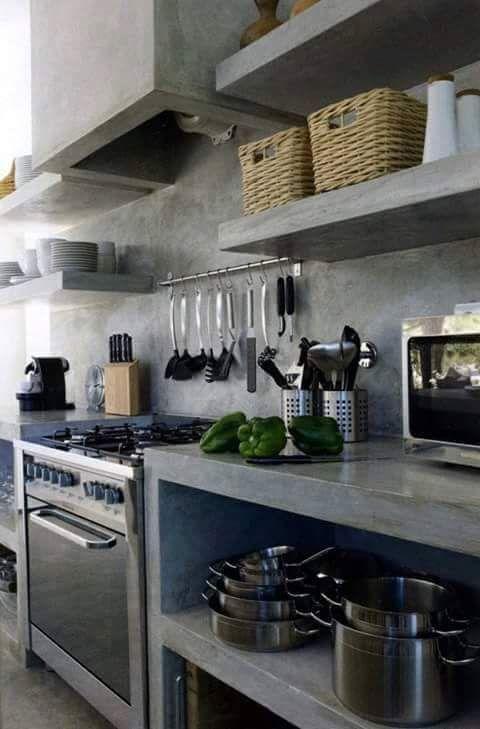 Mejores 22 imágenes de INTERIORES DE CEMENTO en Pinterest | Cocina ...