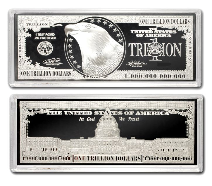 A Trillion Dollar Silver Bar For Dreaming 12 Ounce