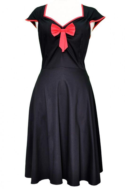 Lady Vintage Isabella Dress Black | Jurken | Miss Vintage | Retro, vintage geïnspireerde dames kleding