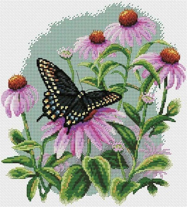 Delicadezas en crochet Gabriela: Flores bordadas incluye plantillas a todo color