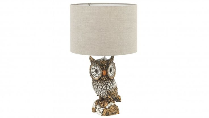 Oliver Owl Brown Bedside Lamp - Table Lamps - Decorator Items - Furniture, Outdoor & BBQs | Harvey Norman Australia