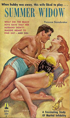 Summer Widow Vintage Pulp Fiction Cover Art