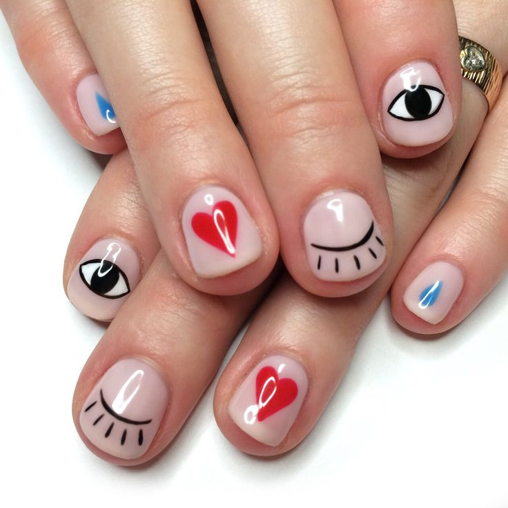 Eye and heart minimal nail art - Best 25+ Evil Eye Nails Ideas On Pinterest Evil Eye Art, Evil