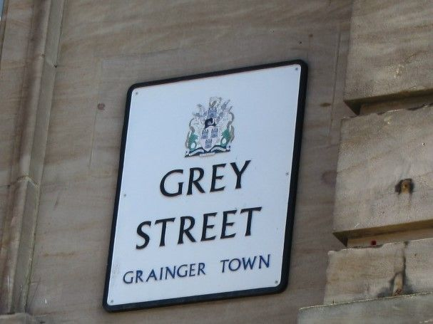 Grey Street is a true location in Newcastle upon Tyne, and is one of the places mentioned in Stripped