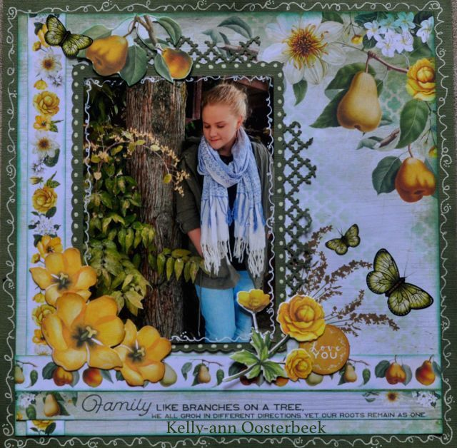 A Layout by Kelly-ann Oosterbeek made using the Golden Grove Collection from Kaisercraft and Imaginarium Designs Chipboard www.kellyanno.com