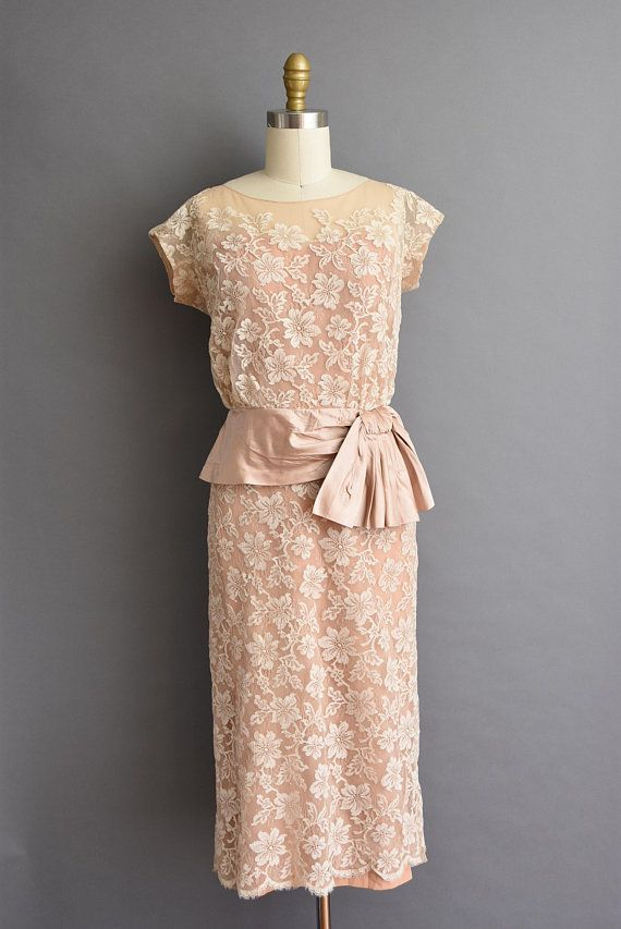 Vintage French Lace Cocktail Dresses