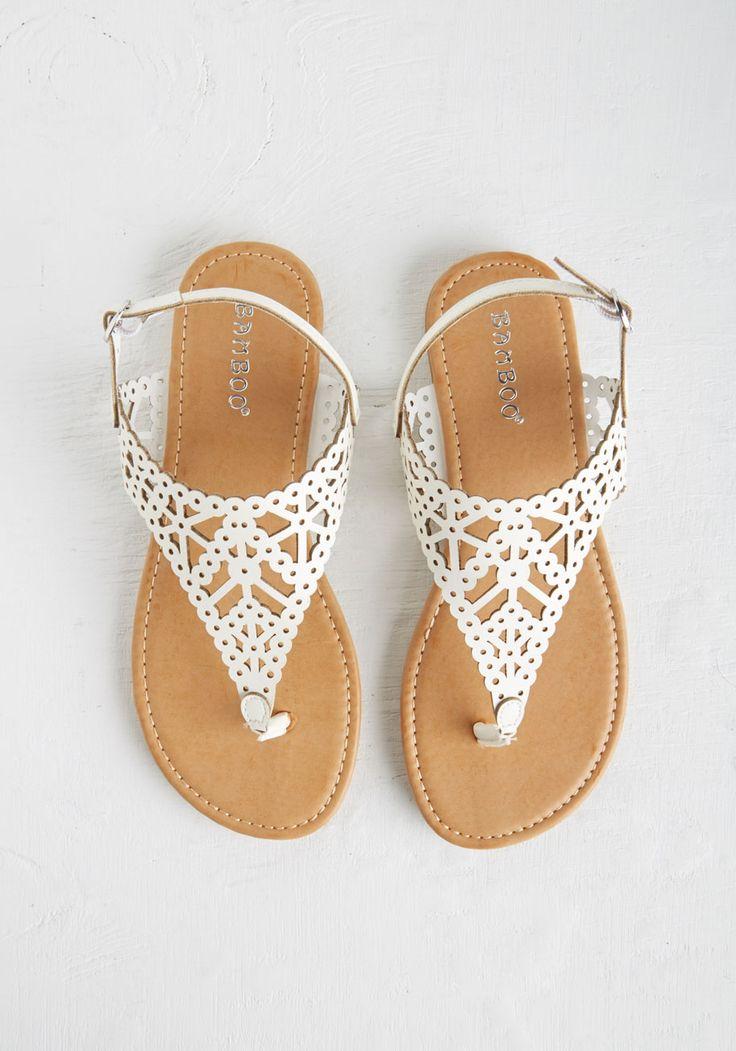 Engagement Picnic Sandal in Ivory | Mod Retro Vintage Sandals | ModCloth.com