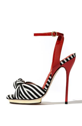 black and white and red all over. alice + olivia.