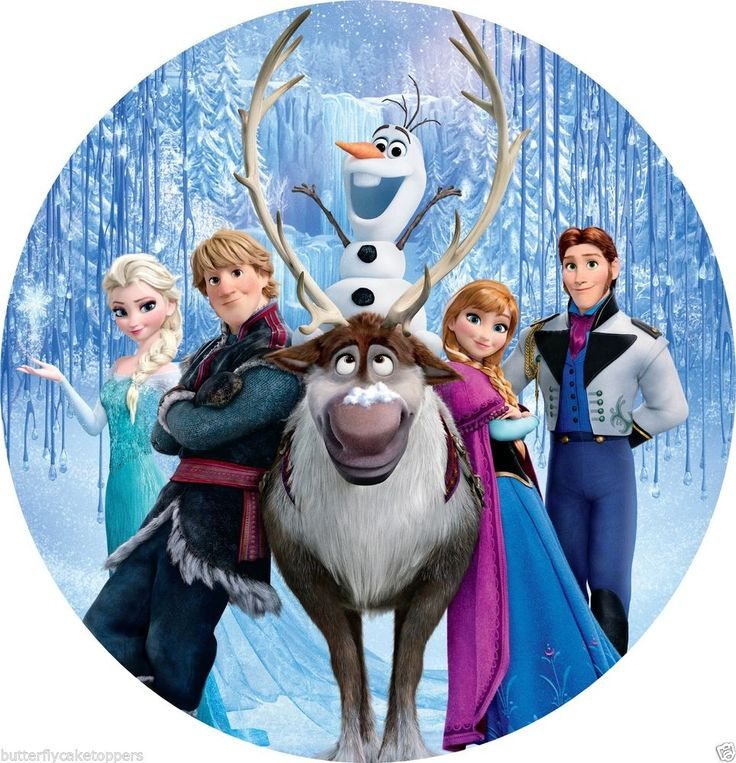 Frozen Elsa Anna 8 Quot Round Sven Olaf Edible Image Frosting