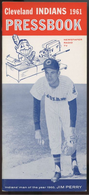 1961 Cleveland Indians Baseball Press Radio TV Media Guide Jim Perry Cover | eBay