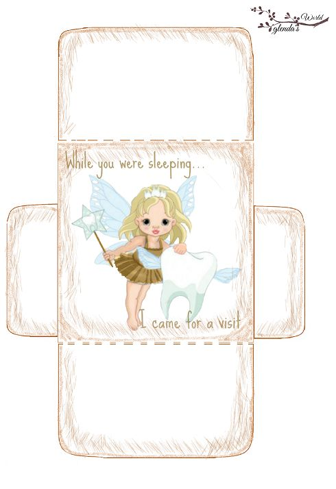 Free-printable Tooth Fairy Card, envelope & Sticker. Several styles on the blog