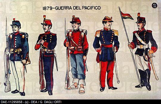 Bolivian uniform, The Pacific war 1879