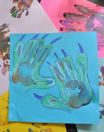 Activities: Make a Monster Hand Print