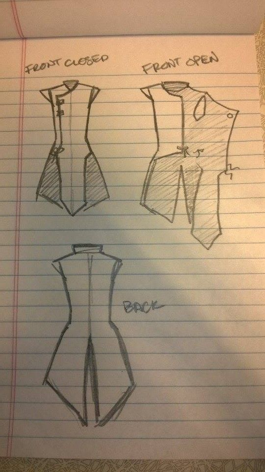 Mikella Touchstone's sketch for vest
