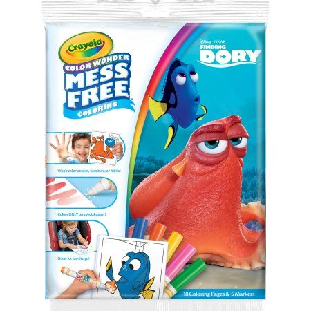 Crayola Color Wonder Disney's Finding Dory Coloring Pages and Mess Free Markers, Assorted