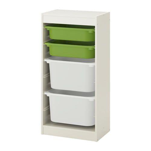 Ikea Trofast Rangementboîtes Blanc Vert Blanc En 2019
