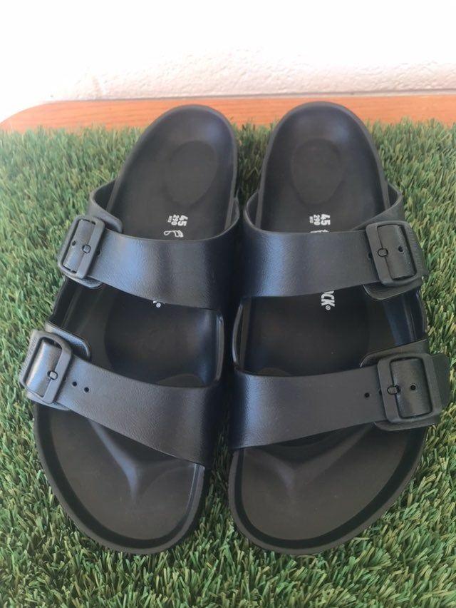 black birkenstock sandals rubber