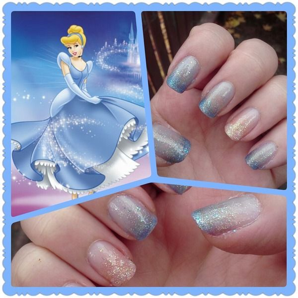 Cinderella glitter nails - 16 Best Cinderella Nail Designs Images On Pinterest Cinderella