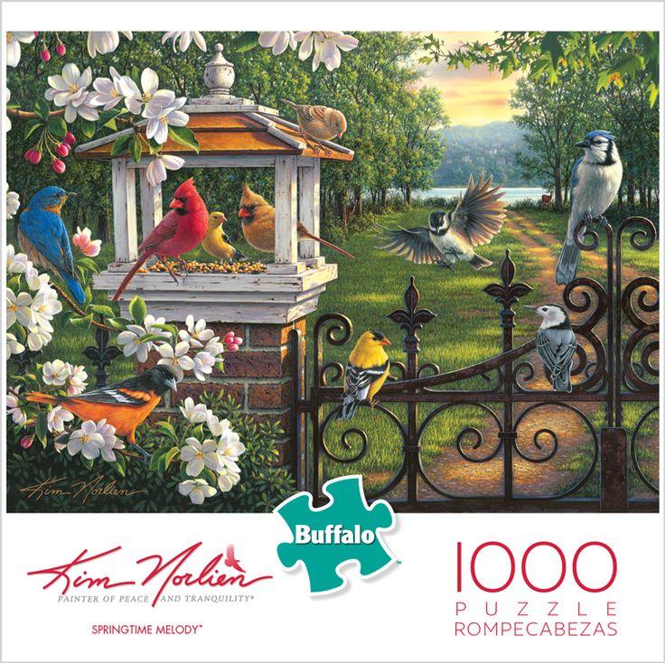 Kim Norlien Springtime Melody 1000 Piece Jigsaw Puzzle #iamapuzzler #jigsawpuzzle #buffalogames #kimnorlien