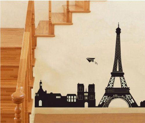 I Love Paris Eiffel Tower Wall Decals Sticker For Kids Room Living Room