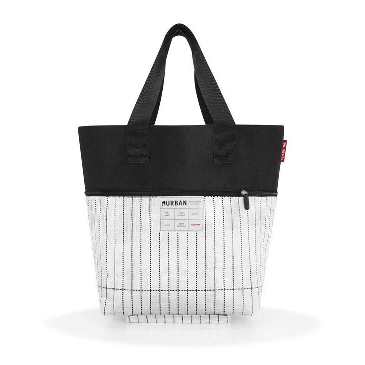 7630e018f24 Reisenthel Urban Hand Luggage, 60 cm, 50 liters, Multicolour (Black White)