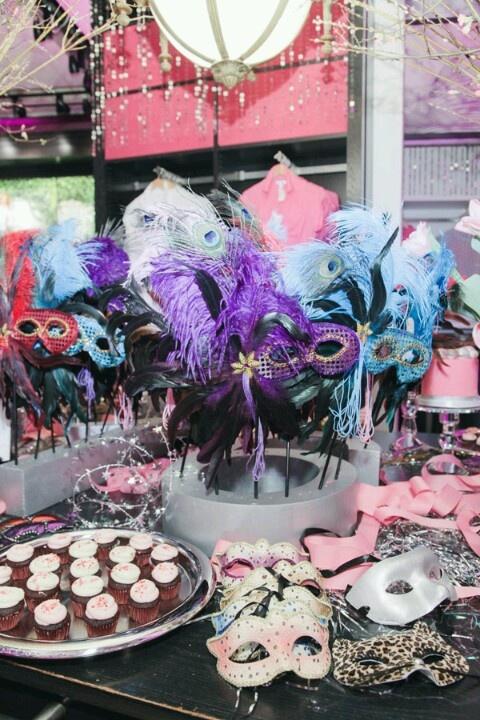 Baile de máscaras - decoração de mesa