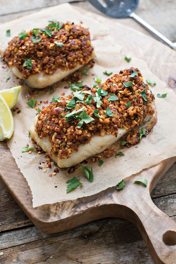 WHAT TO EAT TONIGHT Almond-crusted baked hake: Works just as well with a chunky cod loin. Serve with a green salad and new potatoes if you need carbs