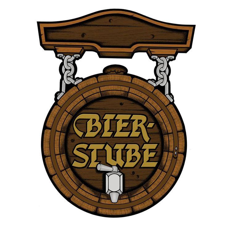 "Club Pack of 12 German Oktoberfest Bier Stube"" Sign Cutout Party Decorations 18"", Brown"