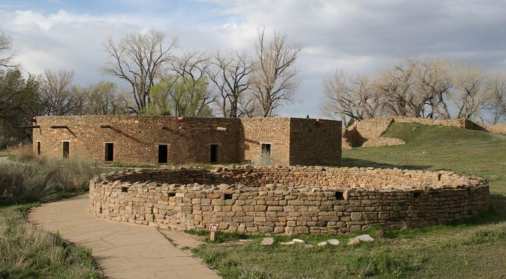 Aztec Ruins New Mexico Showing Exterior Of Restored