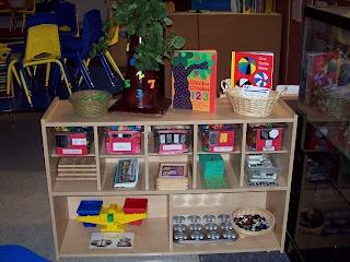 Math Center in a preschool classroom