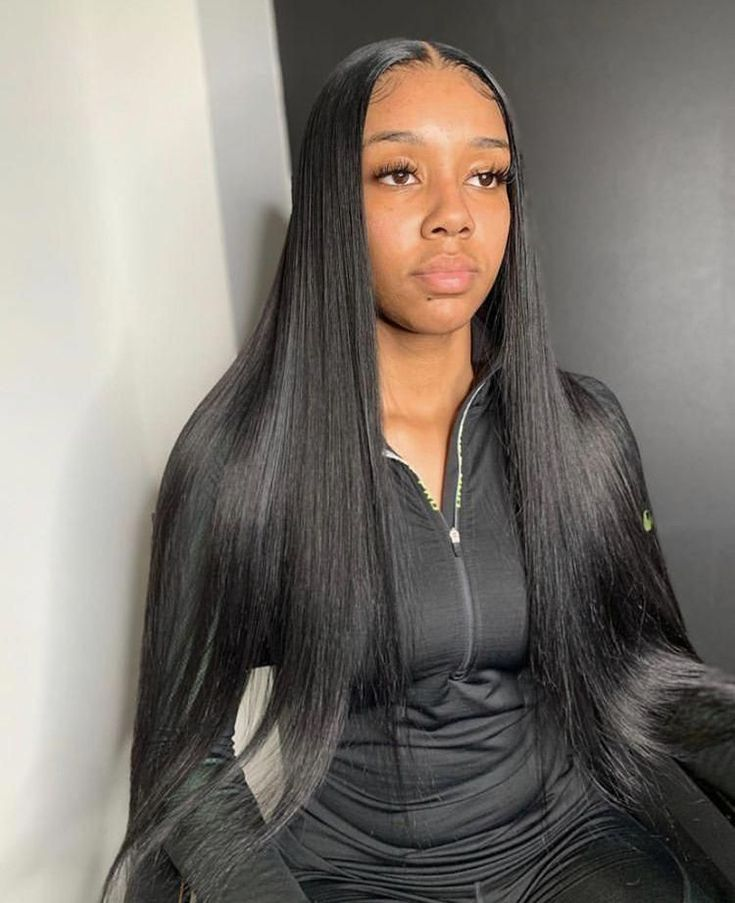 13x4 Lace Front Wig Straight 100 Human Hair Pre Pluck Hairline In 2020 Wig Hairstyles Straight Hairstyles Long Hair Styles